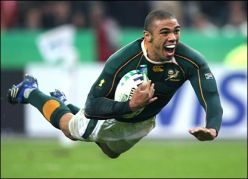 Habana ace Springbok wing!  Rugby player of the year in 2007.