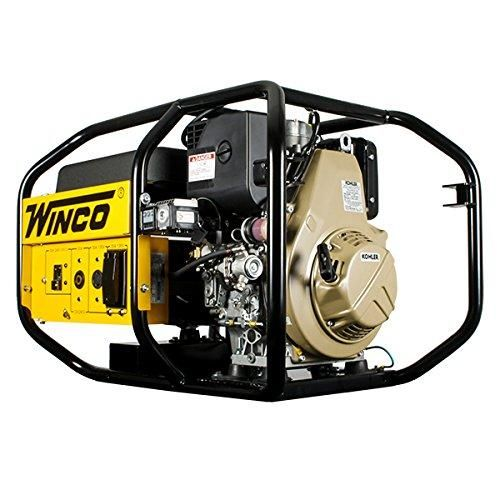 Winco W6010DE - 5160 Watt Portable Industrial Diesel Generator W/Electric Start