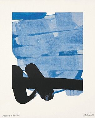 "33. Pierre Soulages (geb. 1919 Rodez) ""Sérigraphie No. 8"" Farbserigraphie 1978"