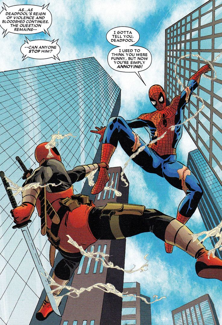 deadpool and spiderman comic - photo #18