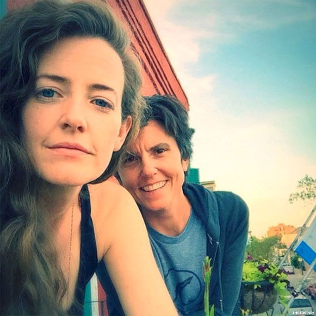 Tig Notaro, 44 & Stephanie Allynne, 30 ...Tig (comedian - actress) and Stephanie (actress) started dating in 2013, then married earlier this year. (14 year age gap)