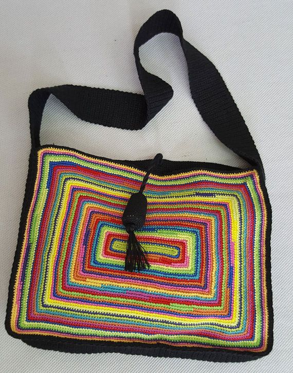Bohemio crochet bolso bandolera Boho bolso de por BHcrafts en Etsy