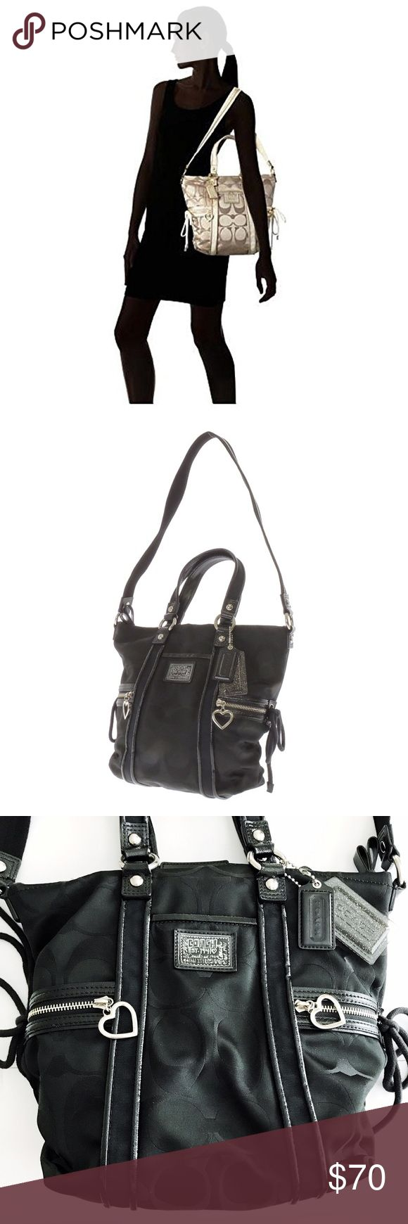 COACH Poppy Daisy Signature Pocket Tote Shoulder Pre-owned COACH Poppy Daisy Signature Pocket Tote Shoulder in BLACK. Authentic ✔️. Great condition!. Ebay sells this exact one, pre-owned for $89.99. Buy it here for better deal and quality. Coach Bags Shoulder Bags