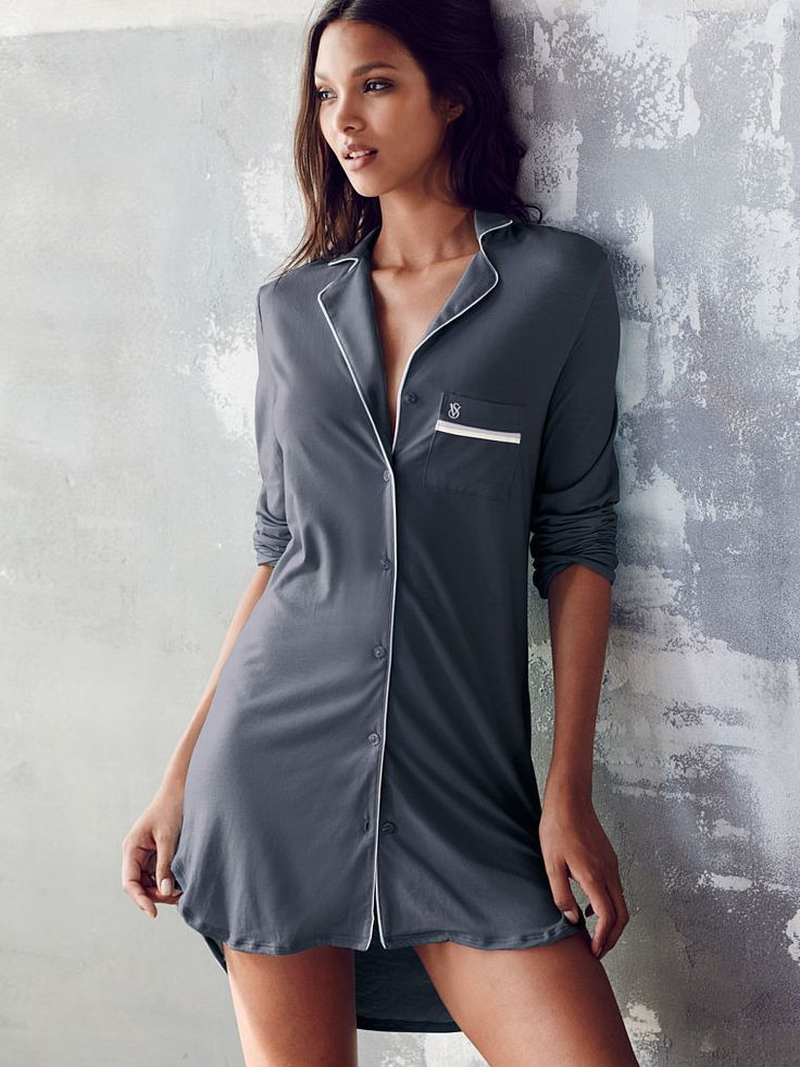 Supersoft Sleepshirt in Night Shimmer $49.50 - Body by Victoria - Victoria's…