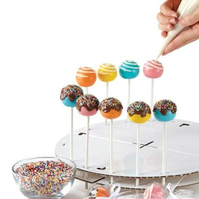 Cake Pops Decorating Stand- maybe I can make this?