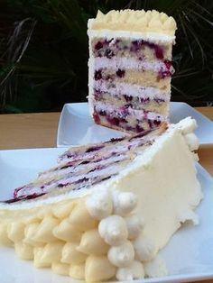 tarta de arándanos, curd de limón y crema de mascarpone