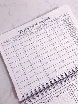 TPT Seller Agenda & Product Check Forms