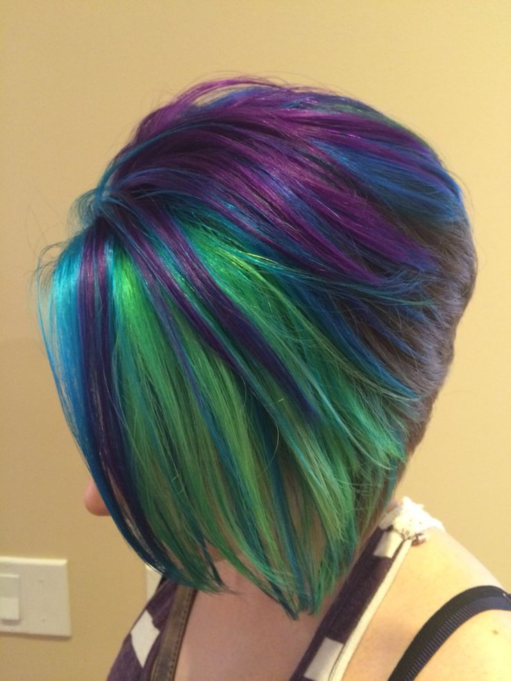 Image Result For Peacock Hair Bob Peacock Hair Color