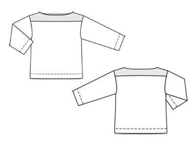 Bluzka - liczba Wzór 107 A Journal 2/2012 Burda - wzory na bluzki Burdastyle.ru