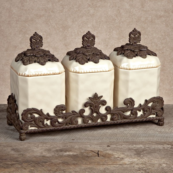 GG Collection Ceramic Canister Set. New From The GG Collection, This Set Of  Ceramic