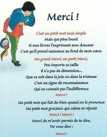 """poésie """"merci"""""""
