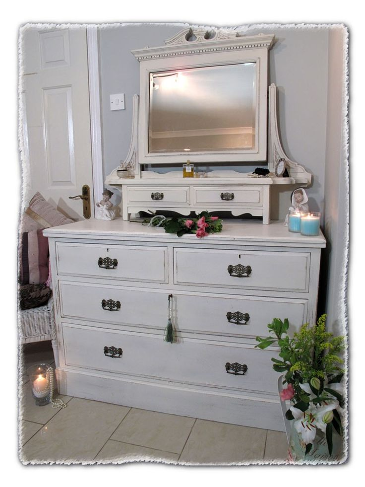 Stunning Shabby Chic Dressing Table & Mirror. www.chicmouldings.com