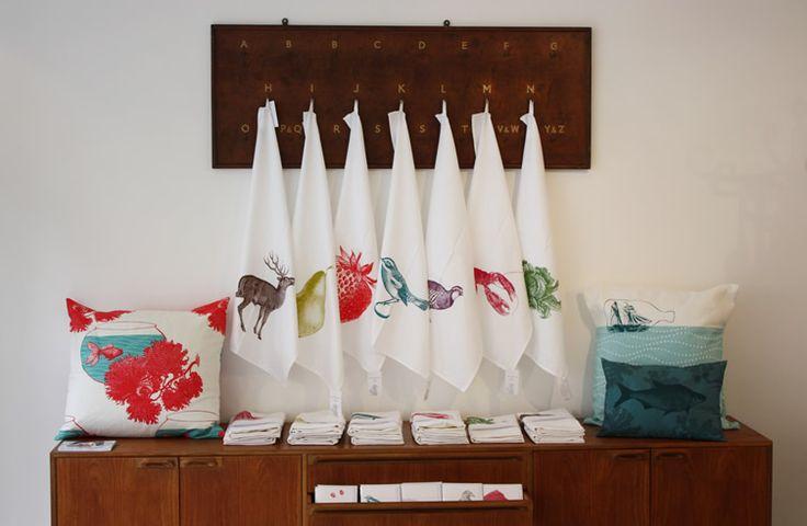I love these screenprinted tea towels!