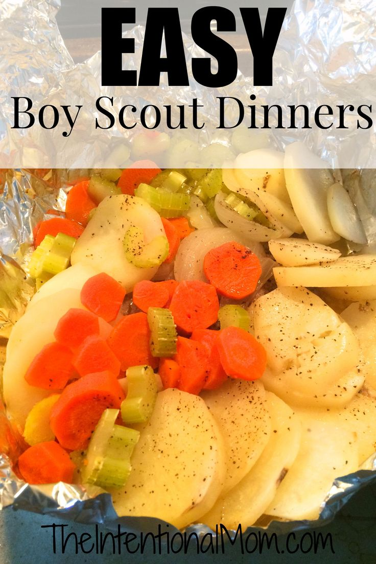 Boy Scout Dinners are a quick and easy meal that will please all the troops. Hamburger, potatoes, carrots, onions, and celery and you've got this SIMPLE and TASTY meal