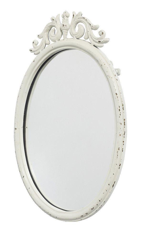 Baños Estilo Barroco:Espejo estilo barroco moderno, con marco de hierro en color blanco