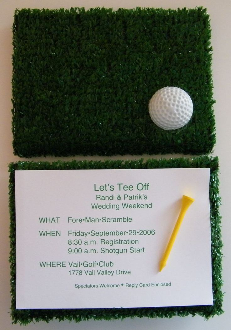 Cute Idea - Would be great for a golf party