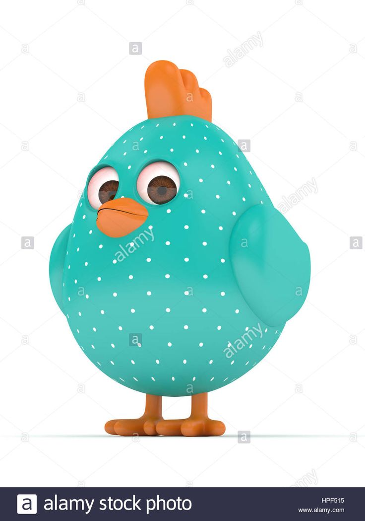 Download this stock image: 3d render of Easter chick isolated on white background - HPF515 from Alamy's library of millions of high resolution stock photos, illustrations and vectors.
