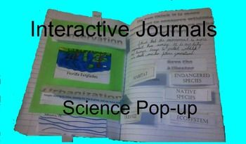 Great for reading or science. This interactive science journal is a complete lesson. It includes an essay about conservations efforts for the Everglades, Pop-up pull picture, definitions for interactive journal, and two writing prompts. The definitions are habitat, ecosystem, urbanization, conservation, and native species.