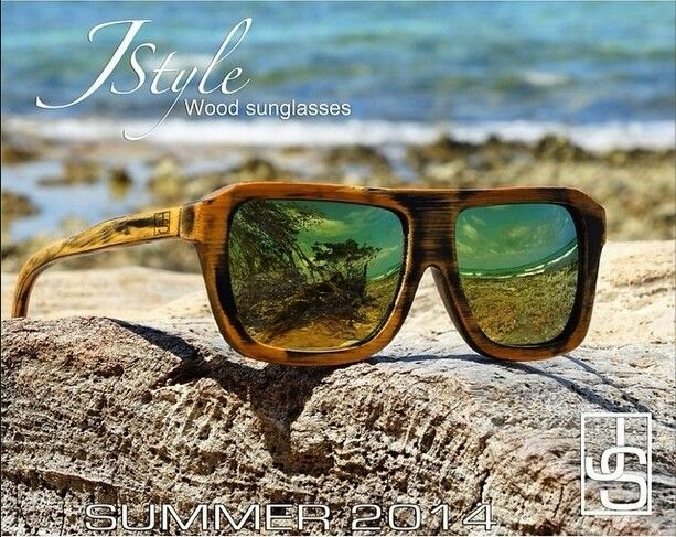 JSTYLE wood sunglasses
