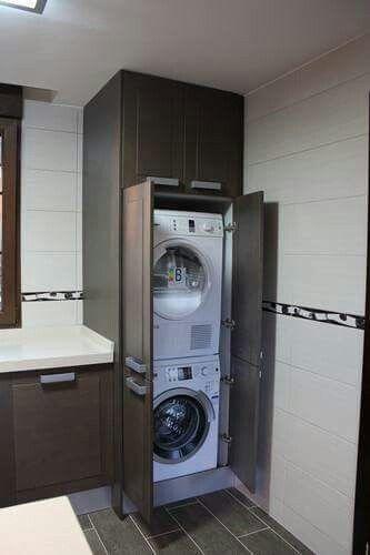 Las 25 mejores ideas sobre estante de lavadora secadora en - Secadora encima lavadora ...