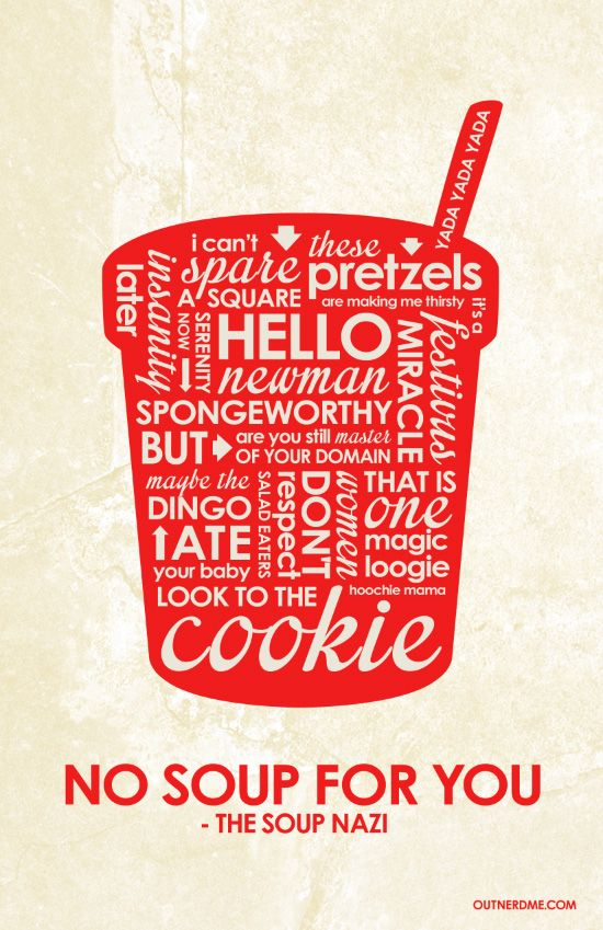 Seinfeld (1990–1998) ~ TV Series Quotes Poster by Stephen Poon #amusementphile