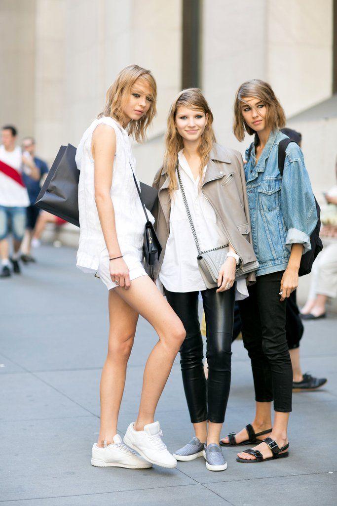 New York Fashion Week street style model off duty looks