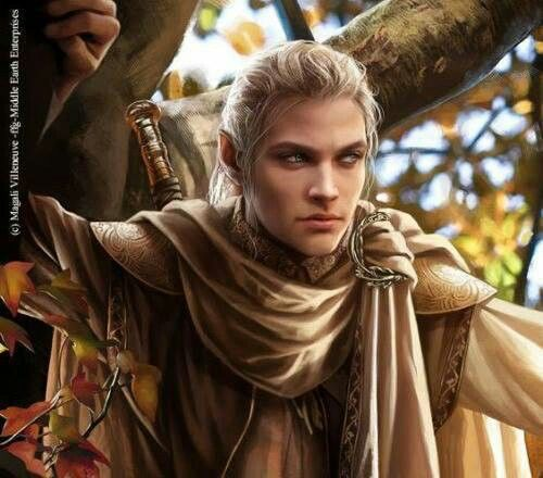 Celeborn by Magali Villeneuve.  He was husband to Galadriel and father to Celebrían.