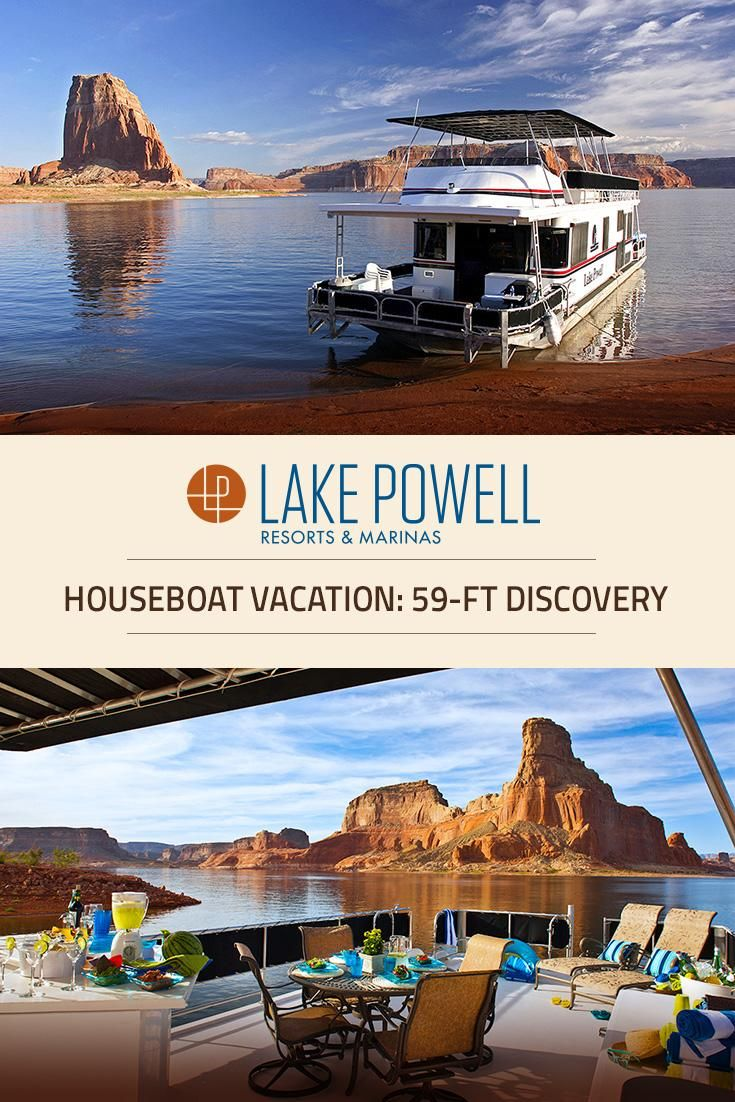 Planning a houseboat trip at Lake Powell? Enjoy our Discovery XL houseboat, offering a choice of upgrades & amenities that sleeps up to 12 guests within its plush & spacious living quarters.