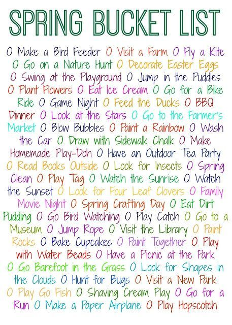 50 Things to Do This Spring (Free Printable) || The Chirping Moms.  Fun Spring Crafts and Activities.  Spring Bucket List. (scheduled via http://www.tailwindapp.com?utm_source=pinterest&utm_medium=twpin&utm_content=post49853422&utm_campaign=scheduler_attr
