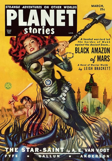 """""""Black Amazon of Mars"""" (1951) by Book Covers: Mars Sci-Fi, Vintage Sexy Paperbacks, via Flickr-- shouldn't I be on the cover of anything with this title?! Lol"""