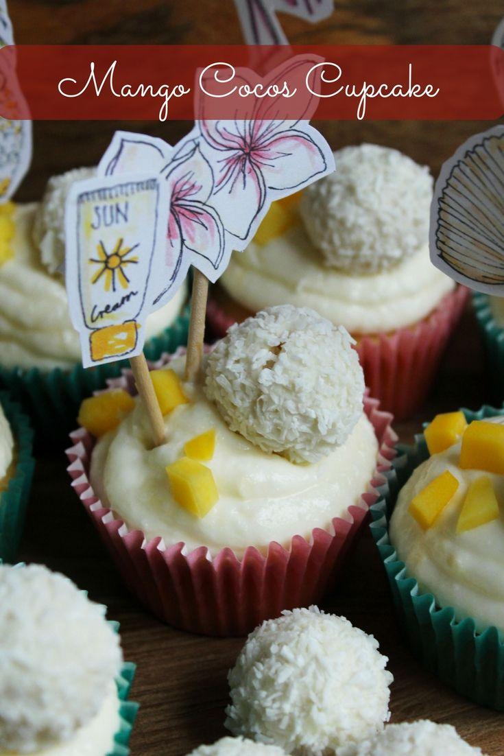 Rezept für leckere Mango Kokos Cupcakes. So einfach kann backen sein.