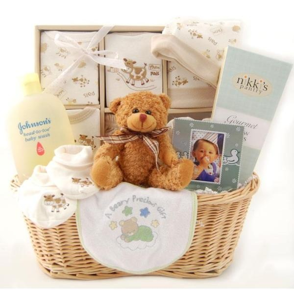 Auctionopia: New Arrival Baby Gift Basket -Neutral