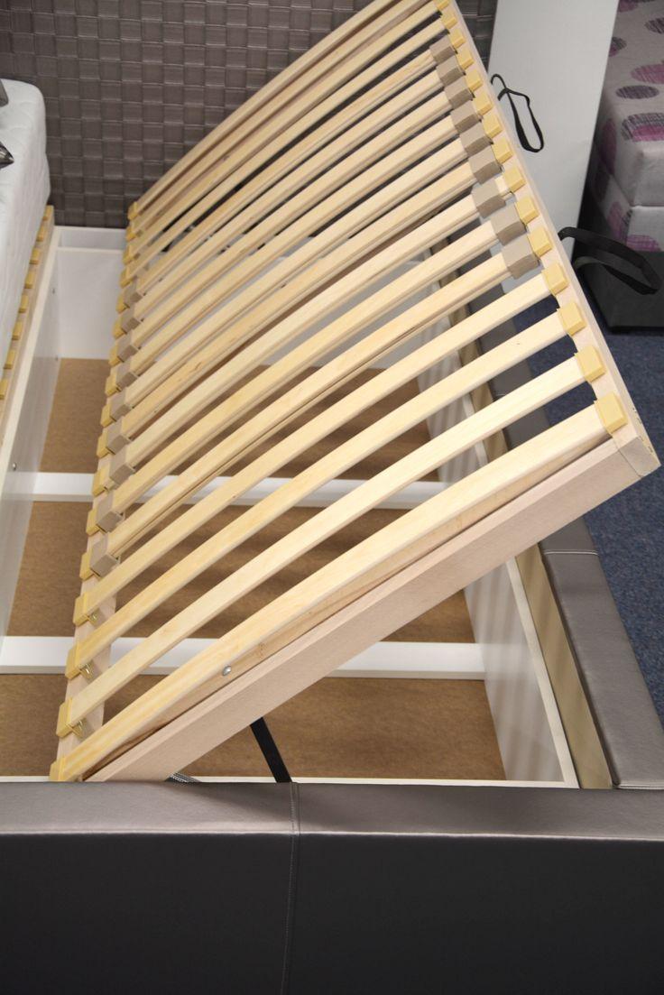 Luxusná posteľ Neli - lamelové rošty s bočným otváraním, úložný priestor