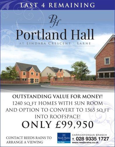 Portland Hall, Lindara Crescent, Larne #newdevelopment #northernireland #forsale #newhomes #larne