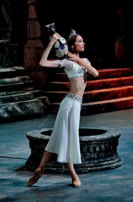 """<<Svetlana Zakharova (Bolshoi Ballet) as Nikiya in """"La Bayadère"""" # Photo © Marc Haegeman>>"""