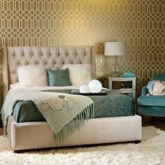 "Love the ""gilded"" palette - wallpaper is fab too!"