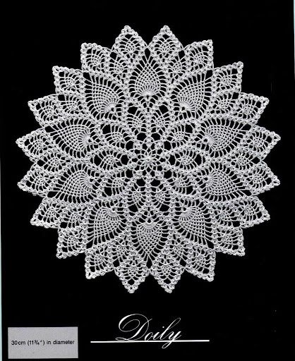 FREE DIAGRAM ~ C ~ 464 ~ Crochet doilies from web - Barbara H. - Picasa Web Albums