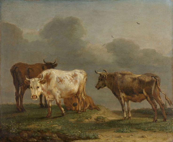 Vier koeien in de weide, Paulus Potter, 1651