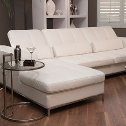 @Overstock - Update your home decor with this Riviera white leather sectional sofa. This 2-piece sectional sofa is upholstered in supple white top grain leather.http://www.overstock.com/Home-Garden/Riviera-White-Leather-Sectional-Sofa/4744967/product.html?CID=214117 $2,716.99