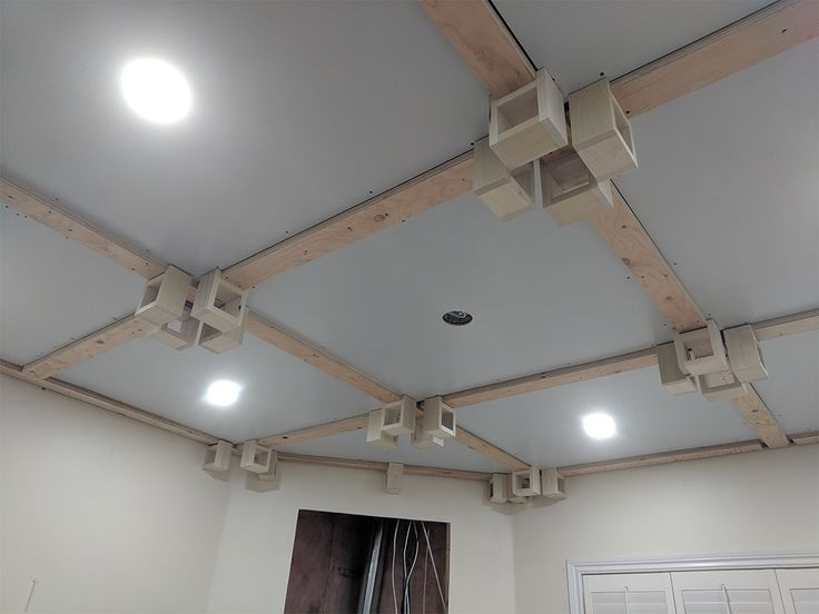 DIY Replace popcorn ceiling with coffered ceiling in ONE
