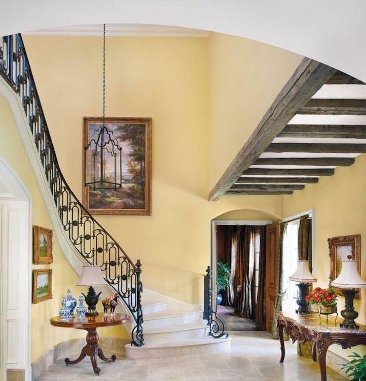 Best 75+ Jaune / Yellow images on Pinterest Antique doors, Bed - escalier interieur de villa