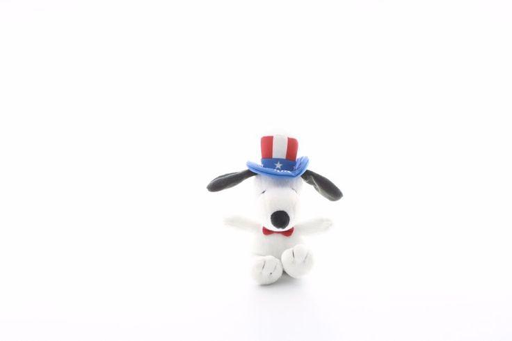 "Snoopy charlie brown peanuts plushie stuffed animal mini patriotic dog USA 7"" #Metlife"
