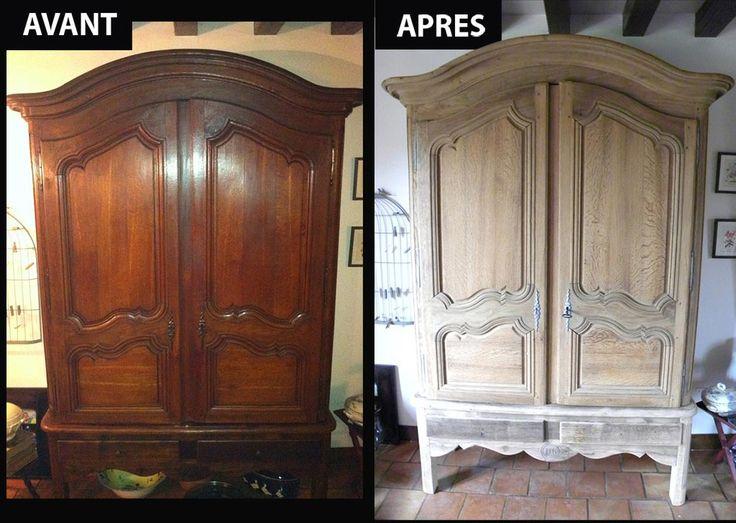 1000 id es sur le th me decapage meuble sur pinterest meuble tr teaux bois et meubles peints. Black Bedroom Furniture Sets. Home Design Ideas
