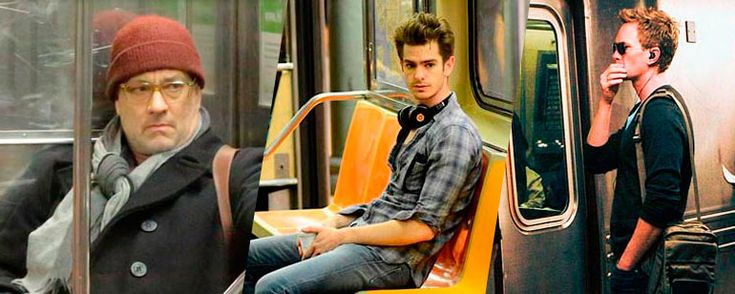 Jake Gyllenhaal, Keanu Reeves o Naomi Watts son figuras habituales en los vagones del metro de Nueva York.