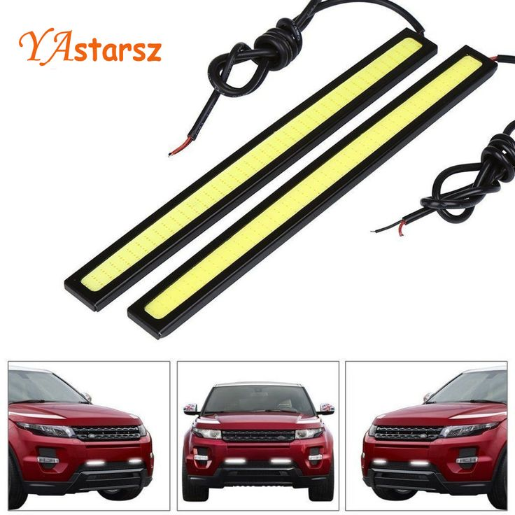 1 Pcs 14 CM LED COB DRL Daytime Running Cahaya Waterproof DC12V eksternal Led Car Styling Mobil Light Source Parkir Kabut Bar lampu