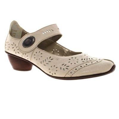 White Rieker Leather Casual Shoes, Debenhams shoes-boots