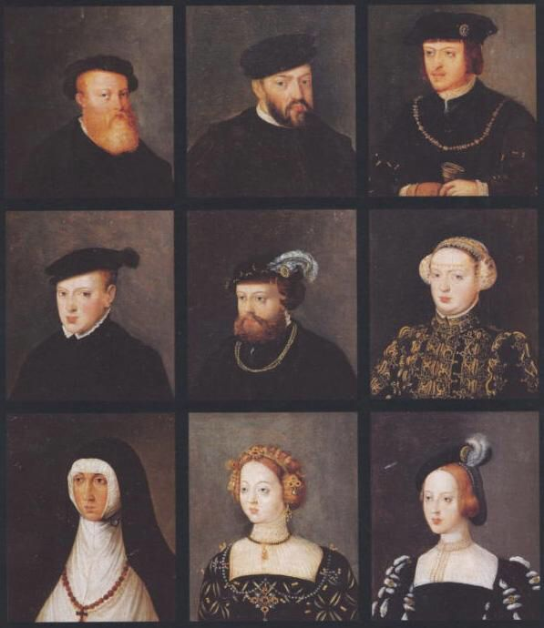 Família real portuguesa no reinado de D. João III. Por Francisco de Hollanda.