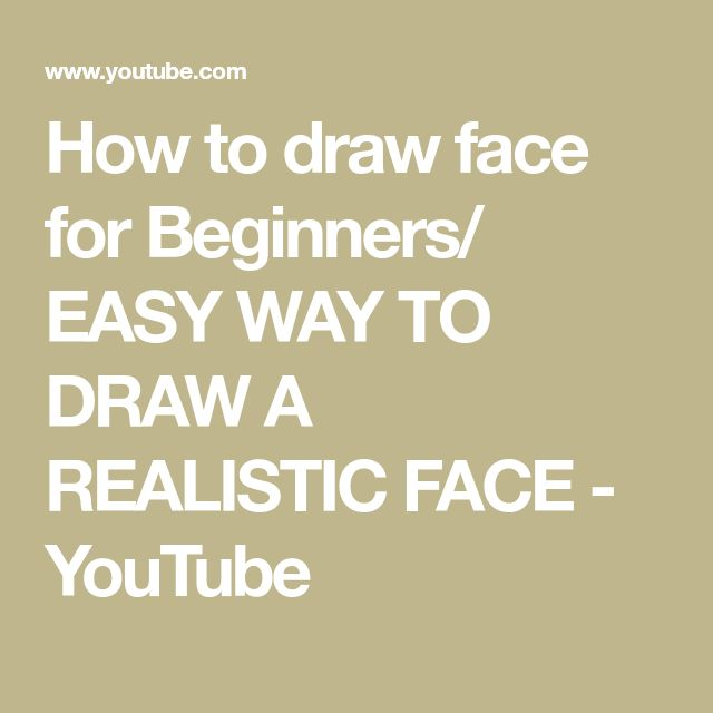 how to draw a realistic face youtube