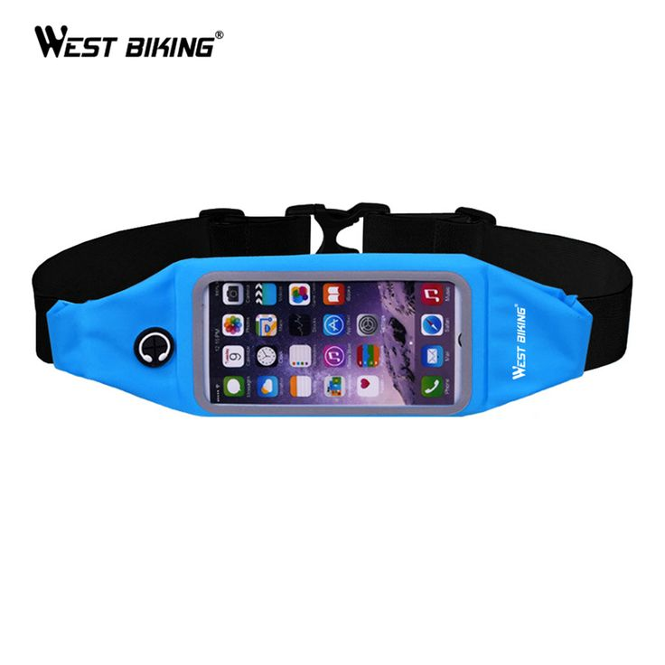 WEST BIKING Cycling Sport Waist Bag Touch Screen Waterproof Belt Pouch Phone Holder 4.7'' 5.5'' Cycling Bicycle Waist Bags