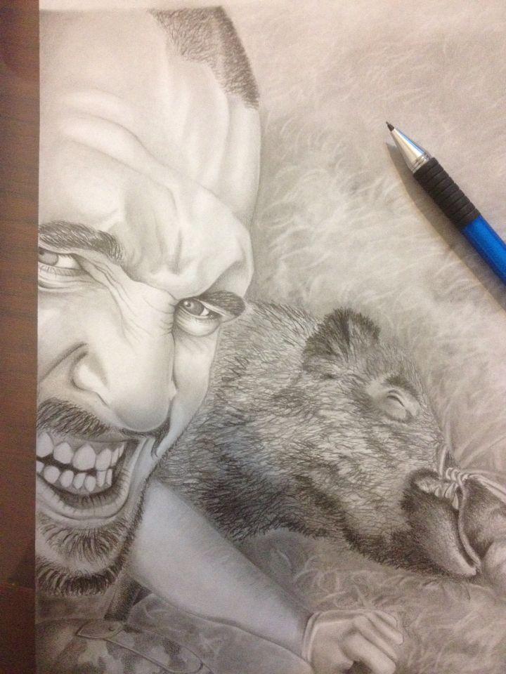 Ritratto, matita  e foglio A4